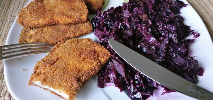 Rotkohl und Sellerieschnitzel