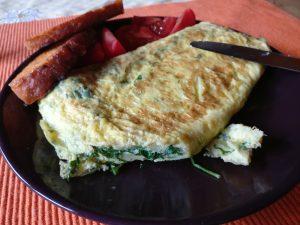 Omelett mit Kräutern